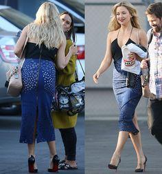 "Kate Hudson leaving ""Jimmy Kimmel Live"" studios in Roland Mouret dress and Christian Louboutin pumps"