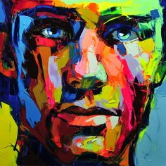 Palette knife painting portrait Palette knife Face Oil painting Impasto figure on canvas Hand painted Francoise Nielly 30 L'art Du Portrait, Abstract Portrait, Portraits, Portrait Paintings, Abstract Oil, Oil Paintings, Art Visage, Palette Knife Painting, Inspiration Art
