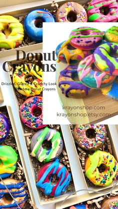 Valentine Gifts For Kids, Easter Gifts For Kids, Birthday Gifts For Kids, Birthday Favors, Christmas Gifts For Kids, Rainbow Donut, Diy Crayons, Diy Donuts, Crayon Set