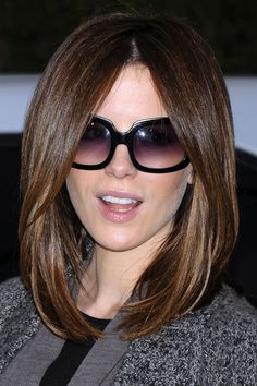 Kate Beckinsale's Lob (long bob) is quite fab