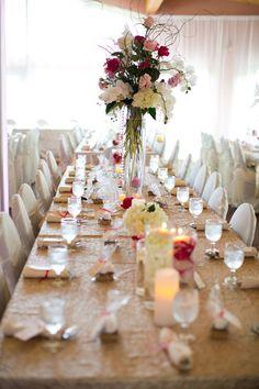 wedding design keystone south dakota - golds and ivory event decor