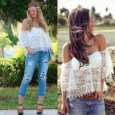 New Womens Sexy White Lace Off Shoulder Loose Tops Fashion Casual T Shirt Blouse | eBay