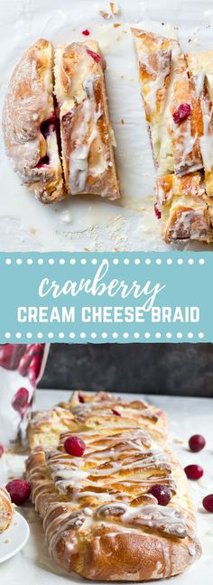 The flavors in this Cranberry Cream Cheese Braid are spot on and bursting with holiday freshness. Cranberries, cream cheese, and pillowy pastry dough...I'm like YIPPEEE! It's the most wonderful time of the year. Muffin Recipes, Brunch Recipes, Baking Recipes, Breakfast Recipes, Party Recipes, Breakfast Ideas, Christmas Desserts, Holiday Foods, Holiday Ideas