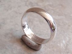 Sterling Silver Band Wedding Ring Size 11 6mm Wide by cutterstone