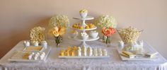 White hot candy buffet table for the wedding! Buffet Dessert, Candy Buffet Tables, Party Buffet, Candy Table, Dessert Bars, Dessert Tables, Buffet Ideas, Party Desserts, Wedding Desserts