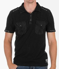 13228a0b Affliction Finally Awakened Polo - Men's Polos in Black Lava | Buckle. Affliction  ClothingMen's ...