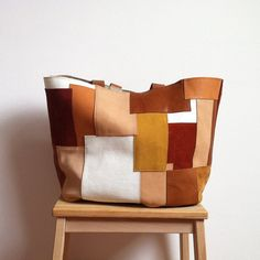 PATCHWORK Leather Bag 02 // unique and one of a kind leather