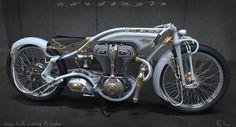 motorcycle, vintage, design