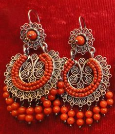 Oaxaca Coral Earrings by PauletteAvila on Etsy, $310.00