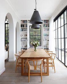 Eating Area | Doorway Arches, Dining Table |   Se det här fotot av @mydomaine på Instagram • 11.3 k gilla-markeringar