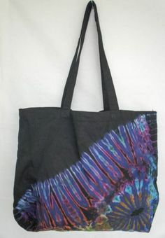 TIE DYE TOTE BAG 013 HANDMADE RARE Shoulder HIPPIE BOHO PURSE 60s 70s