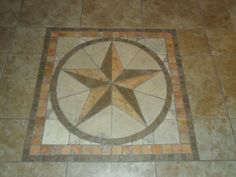 Rustic Star Tile Kit From Home Depot We Inset In The Front Entryway