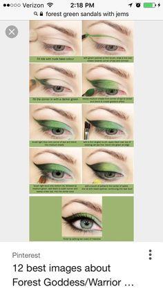 Green Butterfly Eyeshadow Tutorial,green eyeshadow, cosplay make up, make up Green Eyeshadow, Makeup For Green Eyes, Diy Eyeshadow, Neutral Eyeshadow, Colorful Eyeshadow, Eyeshadow Steps, Bright Eyeshadow, Eyeshadow Brushes, Makeup Tips
