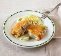 Fisherman's Friend: saftiger Seelachs in zarter Teighülle. Dazu passt Kartoffel-Gurken-Gemüse.