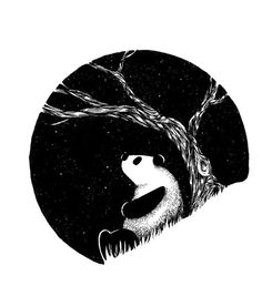 Saved by Grégory Laurent (gregorylaurent). Discover more of the best Panda, Illustrations, White, Tree, and Sky inspiration on Designspiration Indie Kunst, Indie Art, Art D'ours, Doddle Art, Panda Art, Panda Panda, Panda Images, Panda Drawing, Cute Panda Wallpaper