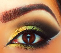 Gold and Green Arabic Look