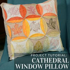 Use classic quilting techniques to whip up this sweet pillow from Embroidery Library.