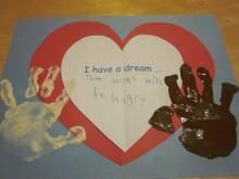 Martin Luther King Day Project with Handprints with song too