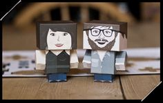 Create diy foldable paper versions of yourself - or your entire family - via Foldable.me!