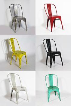 #Chaise #industrielle inspiration #tolix pour une cuisine ou salle à manger