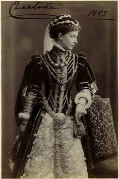 Princess Charlotte of Prussia, daughter of Frederick III of Prussia and Princess Vicky, grand-daughter of Queen Victoria, sister to Kaiser Wilhelm II.