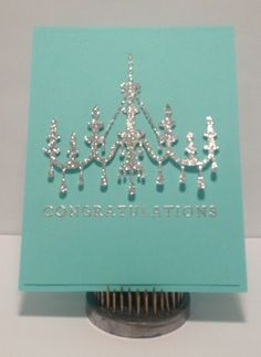 Chandelier congratulations card