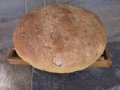 Χωριάτικο ψωμί με προζύμι και μαγιά