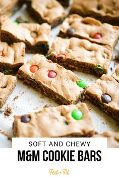 These soft, chewy M&M cookie bars are the ultimate sweet treat! Theyre a fun twist on the typical cookie and delicious enough for ANY occasion!