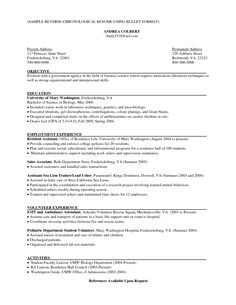 Sample Resume Reverse Chronological Order 13 Resume Formater Best ...