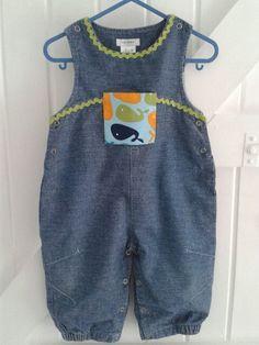 Denim BABY BLUES 'Cocoon' rompers £12.50 See https://folksy.com/shops/sldelaney