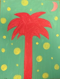 Gallery - Category: Paintings for Kids - Palmetto Tree Love Painting, Painting For Kids, Children Painting, Summer Art, Summer Ideas, Fun Ideas, Party Ideas, Craft Ideas, Palmetto Tree