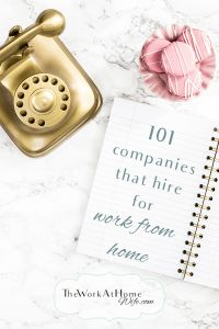 a HUGE list of work from home companies that hire remote workers