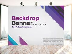 Free-Backdrop-Banner-Mockup-PSD-For-Indoor-Advertisement - Graphic Templates Banner Backdrop, Event Banner, Backdrop Design, Backdrop Stand, Booth Design, Layout Design, Cool Business Cards, Business Card Design, Tradeshow Banner Design