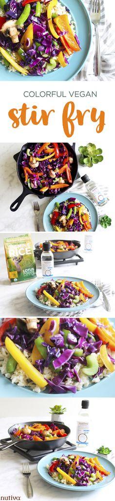Colorful Vegan Stir Fry kitchen.nutiva.com