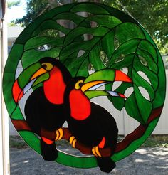 Stained Glass Toucans
