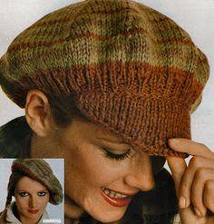 Blog de tricot avec d anciens modèles, des modèles vintages de bonnet,  bérets, chapeaux, cagoules, pour se protéger la tête du froid ou du chaud. 9be15c9eaf9