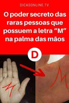 """Linhas da mão significado   O poder secreto das raras pessoas que possuem a letra """"M"""" na palma das mãos"""
