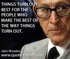 John Wooden quotes - handpicked collection from Quote Coyote, the ultimate source for funny, inspiring quotes, and quotes about life, love and more. John Wooden Quotes, Aim In Life, Philosophy Quotes, Life Quotes, Inspirational Quotes, Wisdom, Author, Good Things, Words
