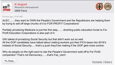 """ALEC wants """"to OWN the People's Government and the Republicans are helping them by trying to sell off large chunks of it to FOR PROFIT Corporations!"""