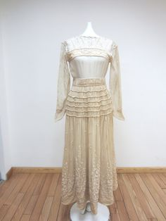 INCREDIBLE 1920's Dress with Embroidery by parasail212 on Etsy, $1250.00