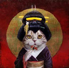 Kyoto Kitty / Lucia Heffernan / Cat Art Show