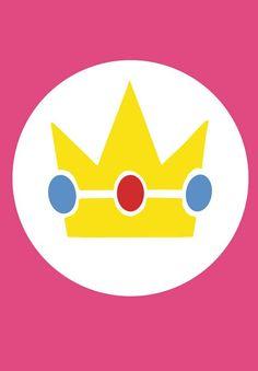 Princess Peach symbol Super Mario Bros, Super Mario Birthday, Mario Birthday Party, Super Mario Party, Princess Peach Mario Kart, Princess Peach Party, Nintendo Party, Youre A Peach, Mario And Luigi