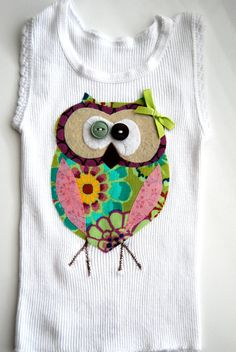Quick baby gift sheets singlet tutorial baby gifts baby owl tank singlet for baby toddler girl by bubbymakesthree on etsy 1900 negle Images