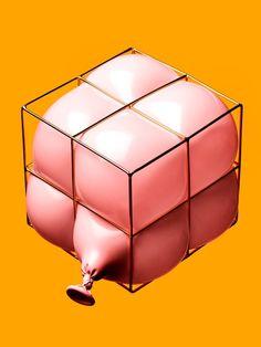 A balloon in a box