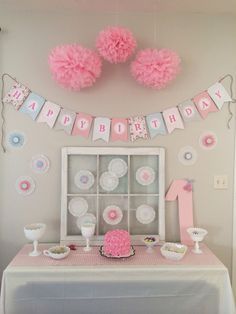 ideas baby girl party themes shabby chic first birthdays Baby Girl Birthday Decorations, Shabby Chic 1st Birthday, Owl Birthday Parties, Butterfly Birthday Party, Girl Birthday Themes, Baby Girl First Birthday, 2nd Birthday, Birthday Ideas, Party Themes