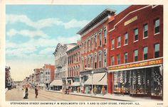 Freeport Illinois Stephenson Street Showing F w Woolworth Co Antique PC V11428 | eBay