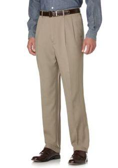 Savane Dark Patina Select Edition Crosshatch Microfiber Wrinkle Resistant Comfort Waist Pants