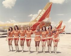 Flashback Fridays: A New Year and Some Significant Photos « Nuts About Southwest Southwest Airlines Flight Attendant, Airline Flights, Airline Travel, Air Travel, Pin Up, Vintage Airline, Aisle Style, Hot Pants, Airplanes