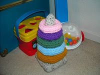 FREE PATTERN: Crochet Baby Ring Stacking Toy – Part 1, The Rings - I'm so glad I found a pattern for this!