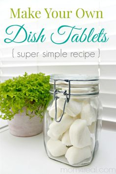 Homemade Dishwasher Tabs - Make Your Own Dishwasher Tablets or Dish Tabs - Super Simple Recipe @Jessica Kielman         {Mom 4 Real}
